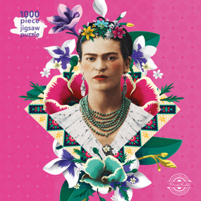 Adult Jigsaw Puzzle Frida Kahlo Pink (1000-piece Jigsaw Puzzles) by Flame Tree Studio, 9781787556102