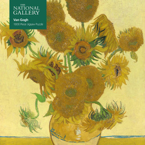 Adult Jigsaw Puzzle National Gallery: Vincent Van Gogh, Sunflowers (1000-piece Jigsaw Puzzles) by Flame Tree Studio, 9781787556164