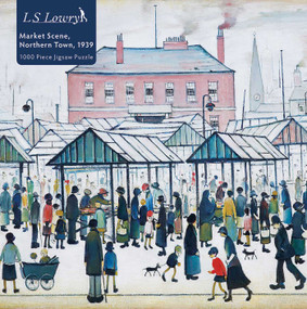Adult Jigsaw Puzzle L.S. Lowry: Market Scene, Northern Town, 1939 (1000-piece Jigsaw Puzzles) by Flame Tree Studio, 9781839642876