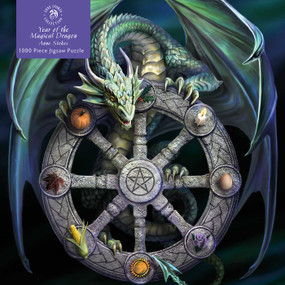Adult Jigsaw Puzzle Anne Stokes: Wheel of the Year (1000-piece Jigsaw Puzzles) by Flame Tree Studio, 9781839642883