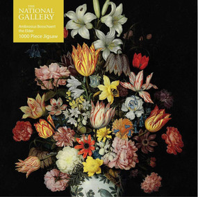 Adult Jigsaw Puzzle National Gallery Bosschaert the Elder: A Still Life of Flowers (1000-piece Jigsaw Puzzles) by Flame Tree Studio, 9781787558908