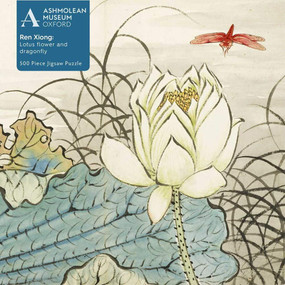 Adult Jigsaw Puzzle Ashmolean: Ren Xiong: Lotus Flower and Dragonfly (500 pieces) (500-piece Jigsaw Puzzles) by Flame Tree Studio, 9781839644627