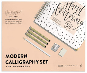 Modern Calligraphy Set for Beginners (A Creative Craft Kit for Adults featuring Hand Lettering 101 Book, Brush Pens, Calligraphy Pens, and More) by Chalkfulloflove, Paige Tate & Co., 9781950968343