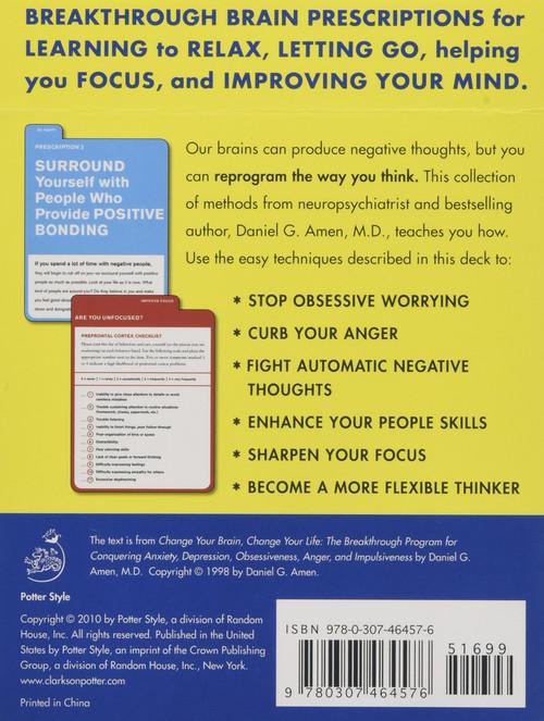Change Your Brain, Change Your Life Deck by Daniel G. Amen, M.D., 9780307464576