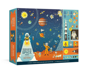 Professor Astro Cat's Frontiers of Space 500-Piece Puzzle (Cosmic Jigsaw Puzzle and Seek-and-Find Poster : Jigsaw Puzzles for Kids) by Dr. Dominic Walliman, Ben Newman, 9780525577027