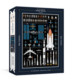 The History of Space Travel Puzzle (Astronomical 500-Piece Jigsaw Puzzle & Poster : Jigsaw Puzzles for Adults) by Pop Chart Lab, 9781524763596