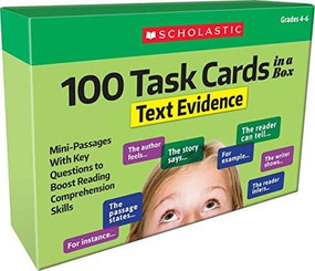 100 Task Cards in a Box: Text Evidence (Mini-Passages With Key Questions to Boost Reading Comprehension Skills) by Scholastic Teacher Resources, Scholastic, Scholastic, 9781338552652