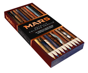 Mars Metallic Colored Pencils (10 pencils featuring photos from NASA (10 Shiny Multicolor Pencils; Coloring Pencils with NASA Space Theme)) by Chronicle Books, NASA, 9781452181110