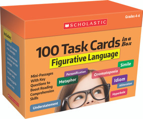 100 Task Cards in a Box: Figurative Language (Mini-Passages With Key Questions to Boost Reading Comprehension Skills) by Carol Ghiglieri, Justin Martin, 9781338748352