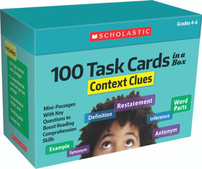 100 Task Cards in a Box: Context Clues (Mini-Passages With Key Questions to Boost Reading Comprehension Skills) by Justin Martin, Carol Ghiglieri, 9781338748369