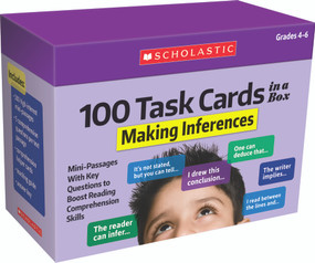100 Task Cards in a Box: Making Inferences (Mini-Passages With Key Questions to Boost Reading Comprehension Skills) by Carol Ghiglieri, Justin Martin, 9781338748376