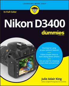 Nikon D3400 For Dummies by Julie Adair King, 9781119336242