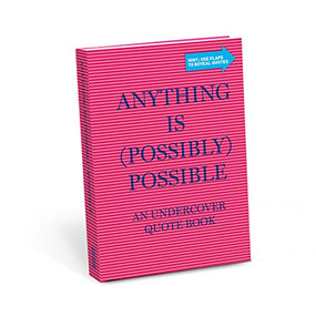 Anything is (Possibly) Possible Undercover Quote Book, 9781683490821
