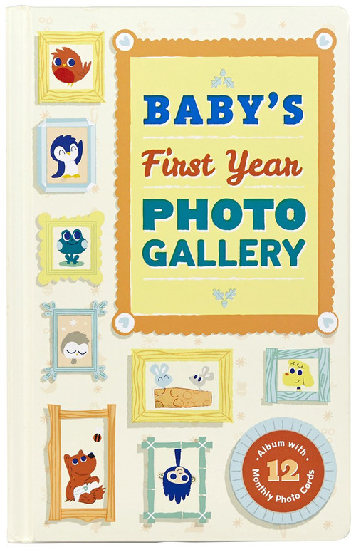 Baby's First Year Photo Gallery (Album with 12 Monthly Photo Cards) by Abrams Noterie, 9781419715600