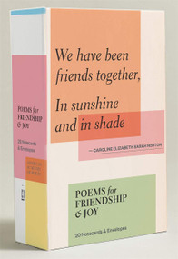 Poems for Friendship & Joy (Notecards) (20 Notecards & Envelopes) by Academy of American Poets, Inc., 9781419718090