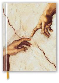 Michelangelo: Creation Hands (Blank Sketch Book) by Flame Tree Studio, 9781787555945