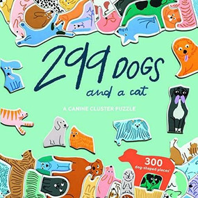 299 Dogs (and a cat) 300 Piece Puzzle (A Canine Cluster Puzzle) by Léa Maupetit, 9781913947156