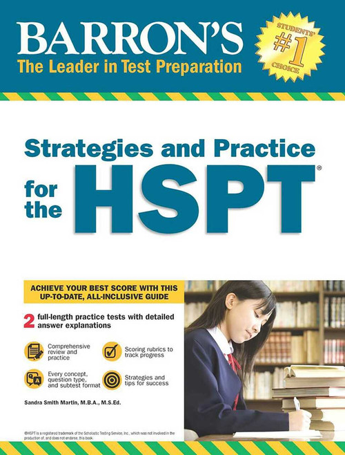 Strategies and Practice for the HSPT by Sandra Martin, 9781438010946