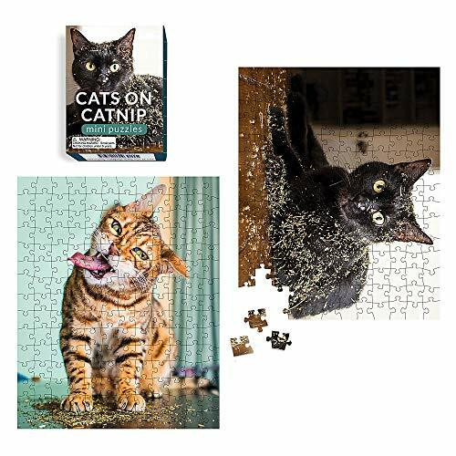 Cats on Catnip Mini Puzzles (Miniature Edition) by Andrew Marttila, 9780762499892