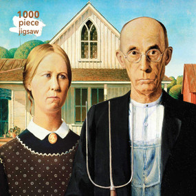 Adult Jigsaw Puzzle Grant Wood: American Gothic (1000-piece Jigsaw Puzzles) by Flame Tree Studio, 9781786644916