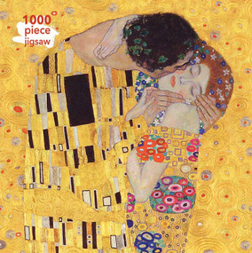 Adult Jigsaw Puzzle Gustav Klimt: The Kiss (1000-piece Jigsaw Puzzles) by Flame Tree Studio, 9781787550865