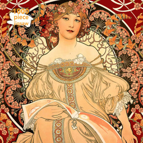 Adult Jigsaw Puzzle Alphonse Mucha: Reverie (1000-piece Jigsaw Puzzles) by Flame Tree Studio, 9781787550889