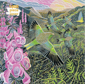 Adult Jigsaw Puzzle Annie Soudain: Foxgloves and Finches (1000-piece Jigsaw Puzzles) by Flame Tree Studio, 9781787558854