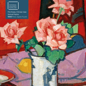 Adult Jigsaw Puzzle National Galleries Scotland - Samuel Peploe: Pink Roses, Chinese Vase (1000-piece Jigsaw Puzzles) by Flame Tree Studio, 9781787558915