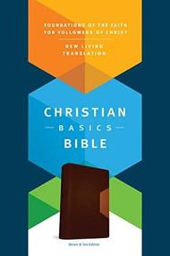 Christian Basics Bible NLT, TuTone (LeatherLike, Brown/Tan) by Martin H. Manser, Michael H. Beaumont, 9781496413574