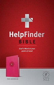 HelpFinder Bible NLT (Red Letter, LeatherLike, Pink) (God's Word at Your Point of Need) by Ronald A. Beers, V. Gilbert Beers, 9781496422941
