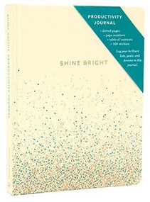 Shine Bright Productivity Journal, Cream by Chronicle Books, 9781452181080