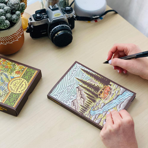 Great Outdoors Flexi Journal ((Blank Lined Notebook of Natural Landscapes, Illustrated Journal that Celebrates Nature)) by Travis Pietsch, 9781452181943
