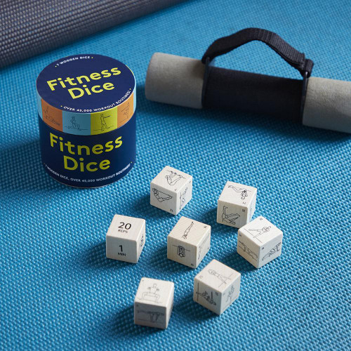 Fitness Dice (7 Wooden Dice, Over 45,000 Workout Routines) (Miniature Edition) by Chronicle Books, 9781452182384