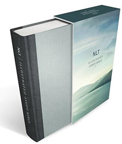 Illustrated Study Bible NLT Deluxe, Deluxe Linen Edition (Hardcover, Gray) by , 9781496428240