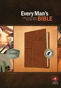 Every Man's Bible NLT, Deluxe Messenger Edition (LeatherLike, Brown, Indexed) by Stephen Arterburn, Dean Merrill, 9781496433596