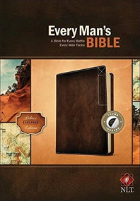 Every Man's Bible NLT, Deluxe Explorer Edition (LeatherLike, Brown, Indexed) by Stephen Arterburn, Dean Merrill, 9781496433602