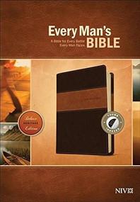 Every Man's Bible NIV, Deluxe Heritage Edition, TuTone (LeatherLike, Brown/Tan, Indexed) by Stephen Arterburn, Dean Merrill, 9781496433558