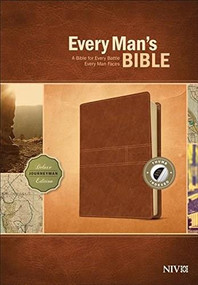 Every Man's Bible NIV, Deluxe Journeyman Edition (LeatherLike, Tan, Indexed) by Stephen Arterburn, Dean Merrill, 9781496433565