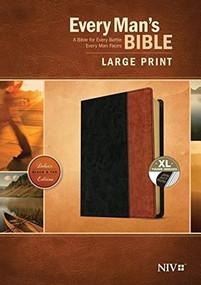 Every Man's Bible NIV, Large Print, TuTone (LeatherLike, Black/Tan, Indexed) by Stephen Arterburn, Dean Merrill, 9781496433534