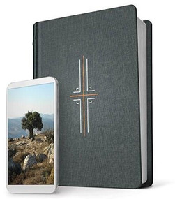 Filament Bible NLT (Hardcover Cloth, Gray) (The Print+Digital Bible) by , 9781496436313