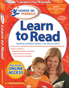 Hooked on Phonics Learn to Read - Level 1 (Early Emergent Readers (Pre-K | Ages 3-4)) by Hooked on Phonics, 9781940384108