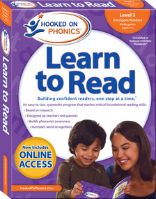 Hooked on Phonics Learn to Read - Level 3 (Emergent Readers (Kindergarten | Ages 4-6)) by Hooked on Phonics, 9781940384122