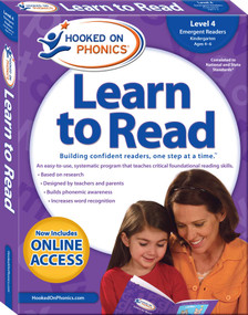 Hooked on Phonics Learn to Read - Level 4 (Emergent Readers (Kindergarten | Ages 4-6)) by Hooked on Phonics, 9781940384139