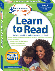 Hooked on Phonics Learn to Read - Level 6 (Transitional Readers (First Grade | Ages 6-7)) by Hooked on Phonics, 9781940384153