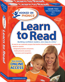 Hooked on Phonics Learn to Read - Levels 1&2 Complete (Early Emergent Readers (Pre-K | Ages 3-4)) by Hooked on Phonics, 9781940384184