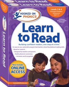 Hooked on Phonics Learn to Read - Levels 3&4 Complete (Emergent Readers (Kindergarten | Ages 4-6)) by Hooked on Phonics, 9781940384191