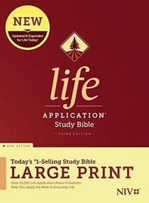 NIV Life Application Study Bible, Third Edition, Large Print (Red Letter, Hardcover) by , 9781496439499