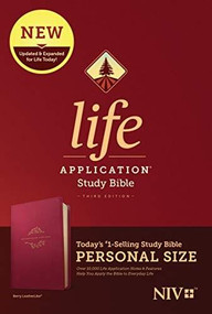 NIV Life Application Study Bible, Third Edition, Personal Size (LeatherLike, Berry) by , 9781496440150