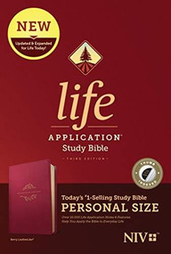NIV Life Application Study Bible, Third Edition, Personal Size (LeatherLike, Berry, Indexed) by , 9781496440167