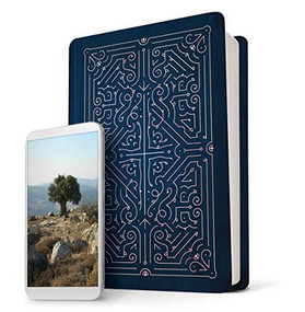 Filament Bible NLT (LeatherLike, Navy/Rose Gold) (The Print+Digital Bible) by , 9781496444424